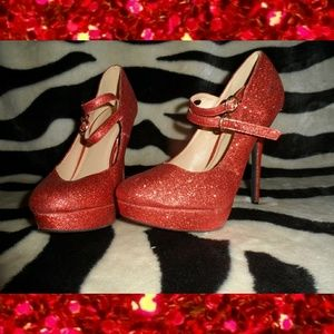 Charolett Russe Sparkly Red Heels Wizard Of Oz